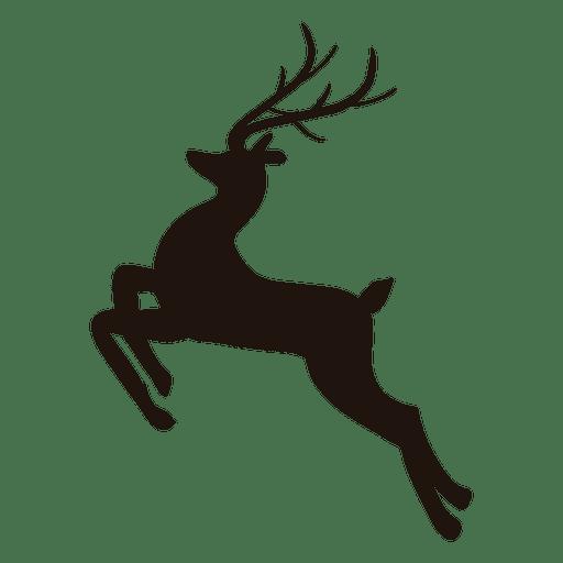 Reindeer silhouette jumping 25.