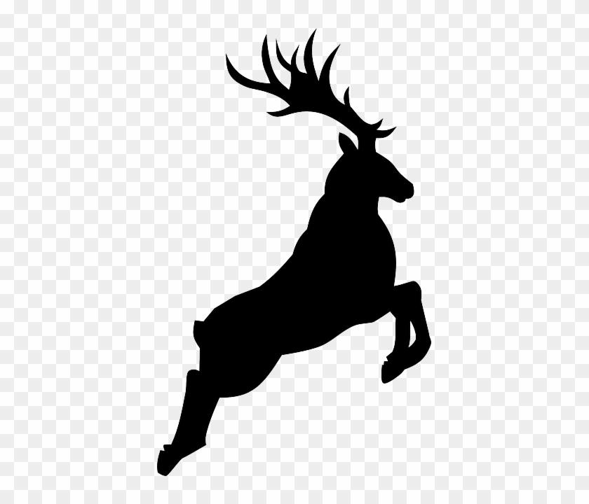 Download Free png Buck Deer Silhouette Reindeer Silhouette Png Free.