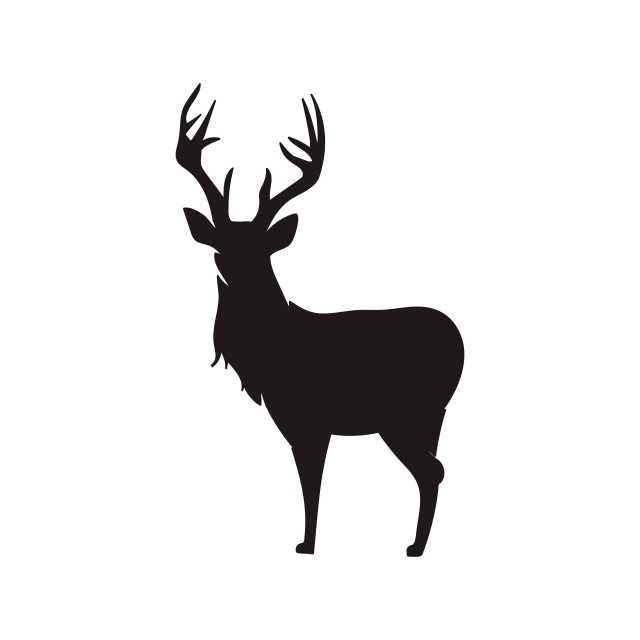 Deer Silhouette Vector, Animal, Antler, Art PNG and Vector with.