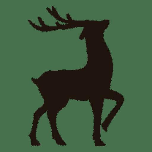 Reindeer silhouette standing 13.
