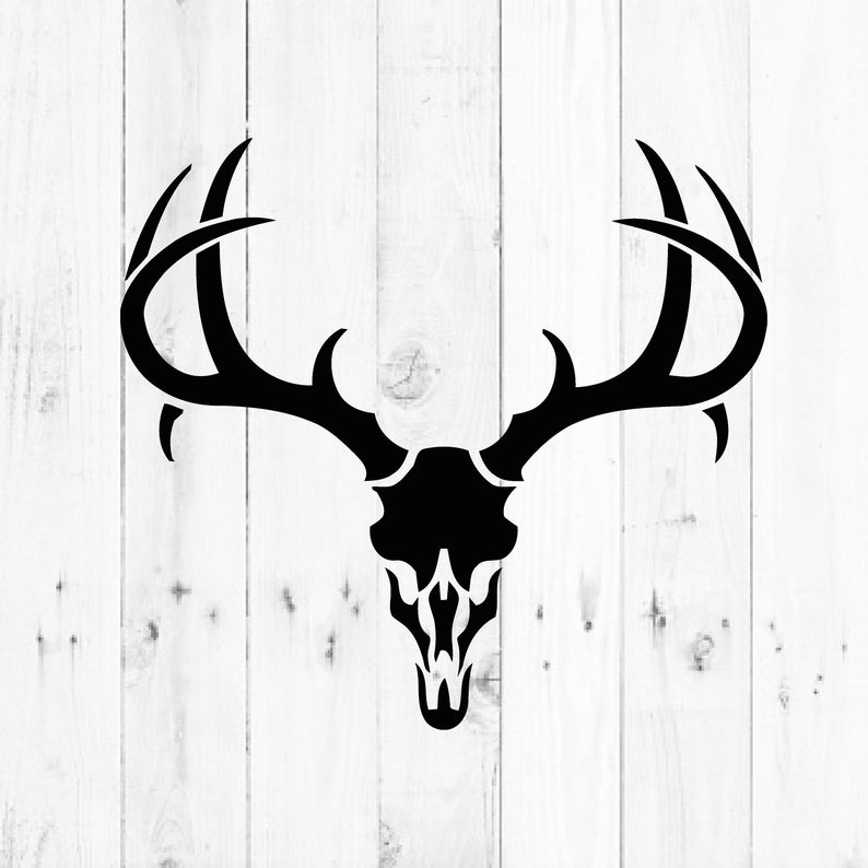 Deer Skull, Hunting svg, Outdoors svg, Cricut Clipart Silhouette,  Silhouette Cricut Cameo.