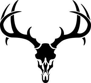 Deer Skull Clipart Black And White.