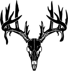 Whitetail Deer Skull Silhouette.