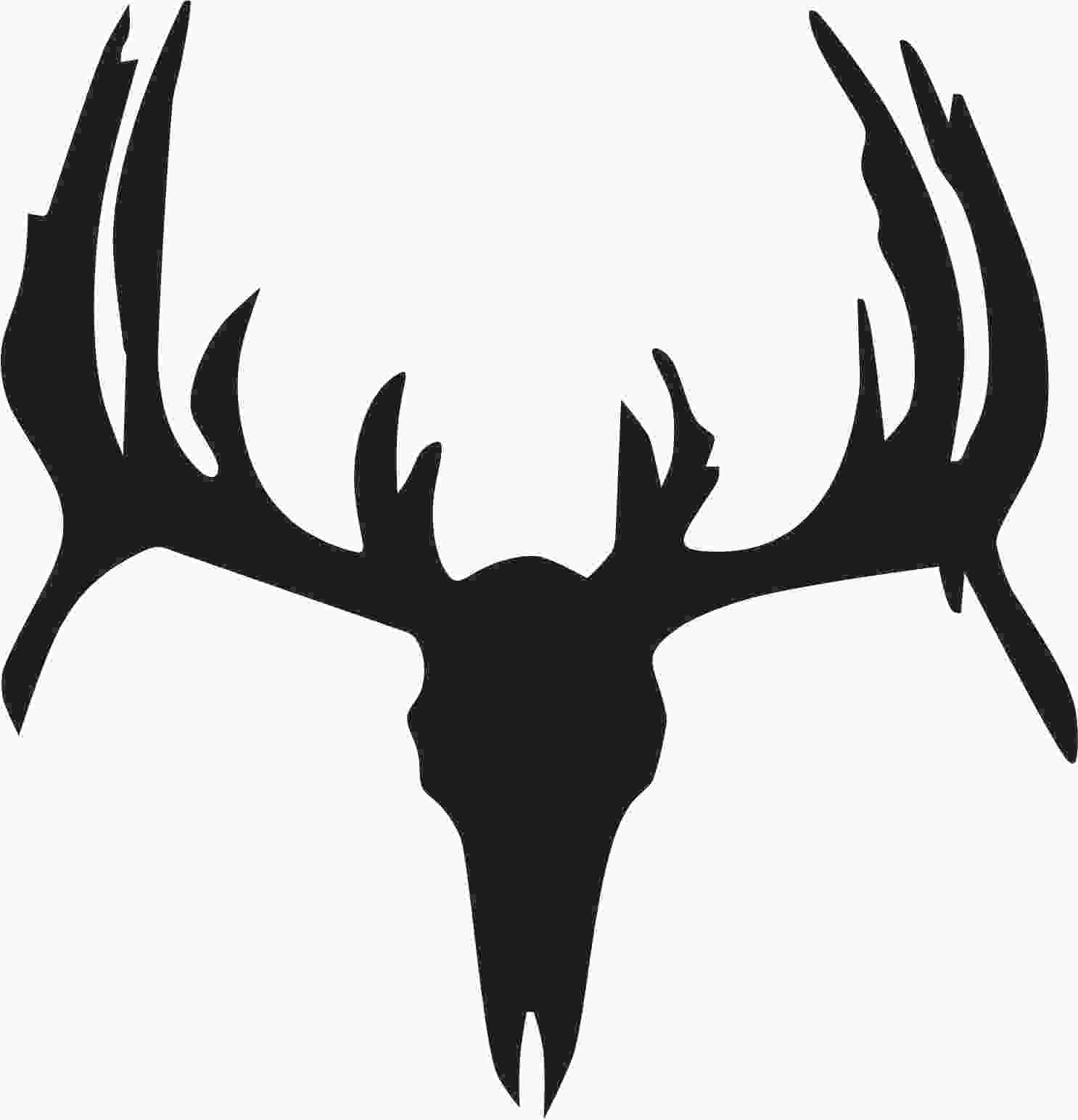 Free Deer Skull Clipart Black And White, Download Free Clip.