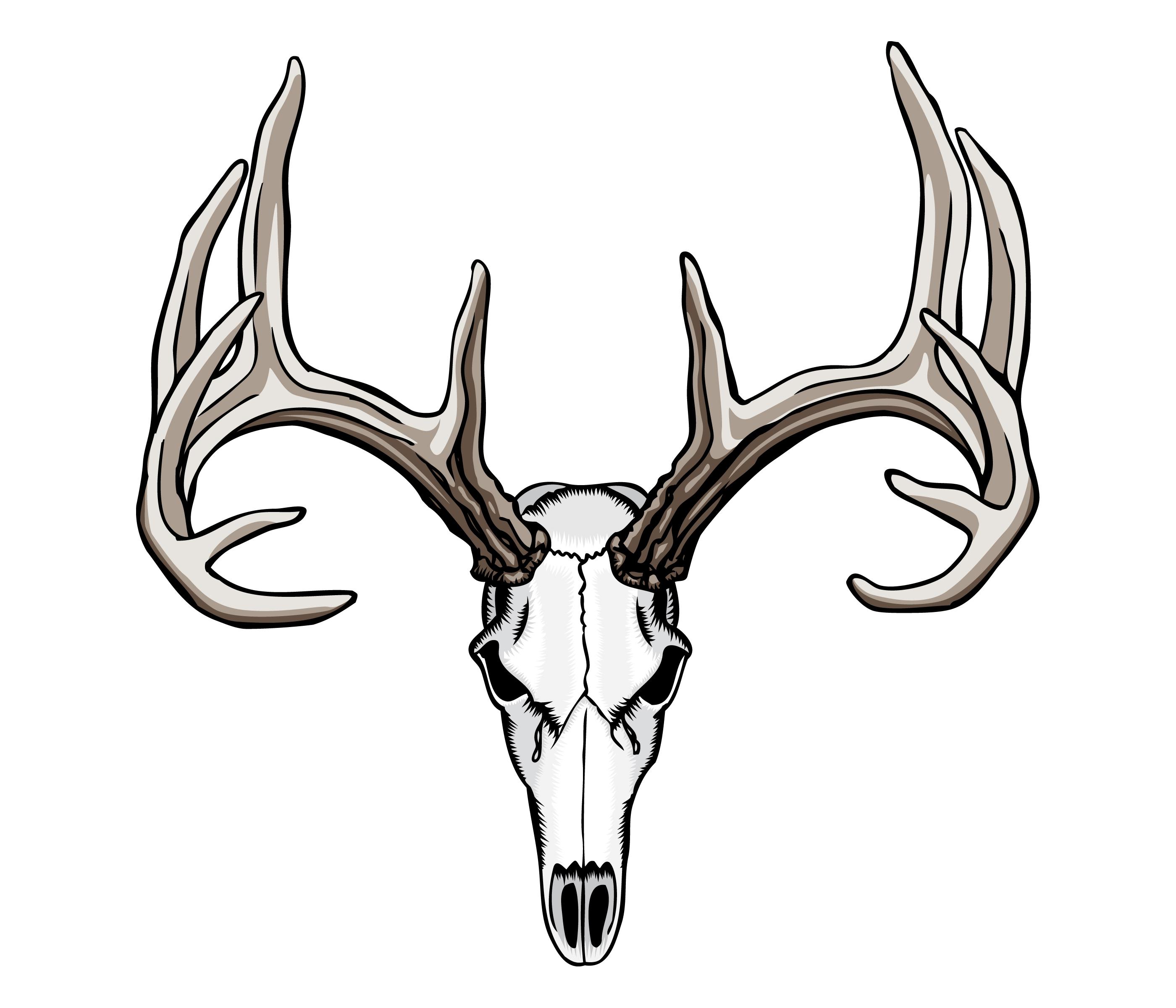 Deer Skull Silhouette at GetDrawings.com.