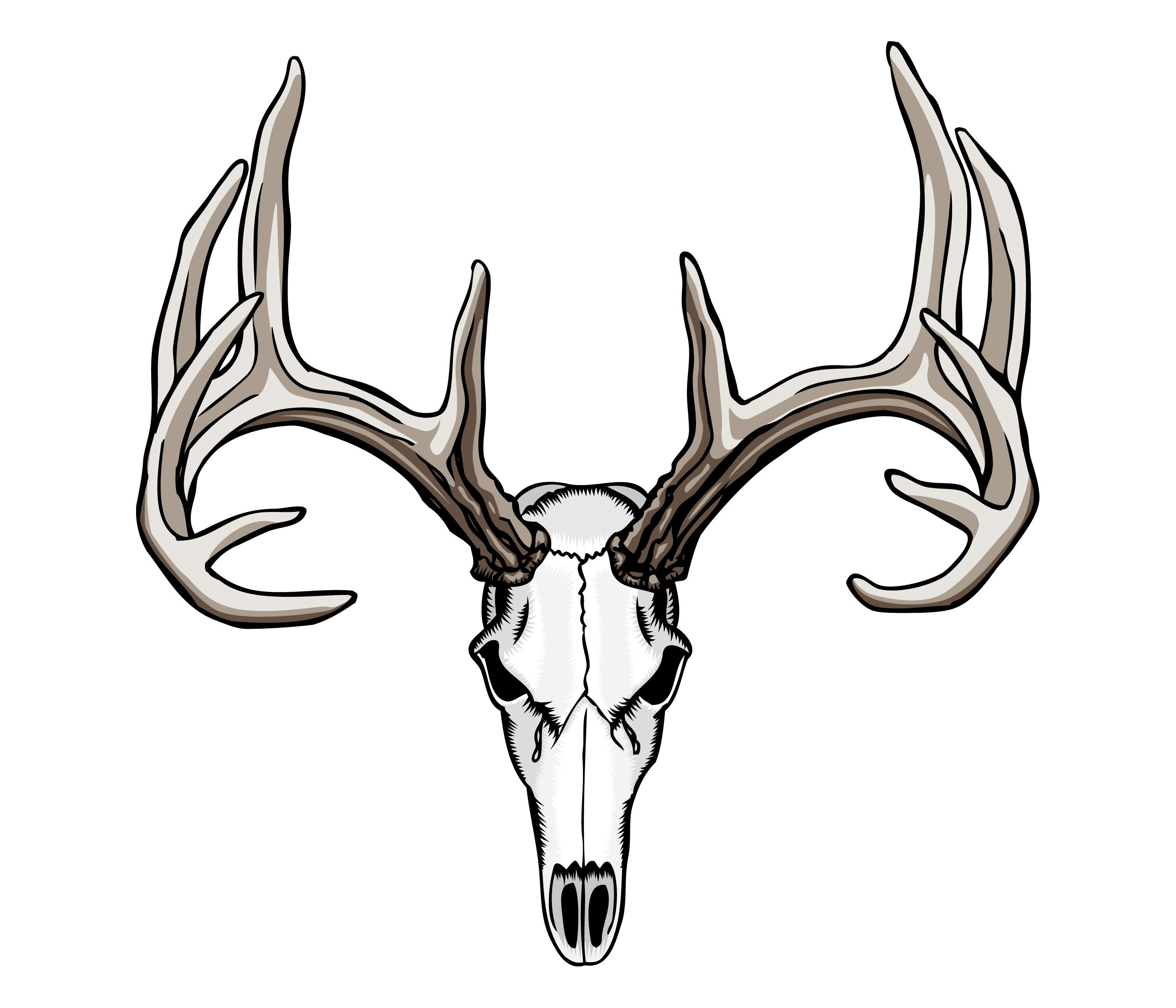 Whitetail Deer Skull Tattoos.