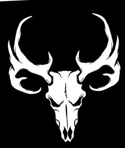 Details about Whitetail Deer Skull Sticker Antlers Bone Hunting Buck Trophy  Rack Vinyl Decal.