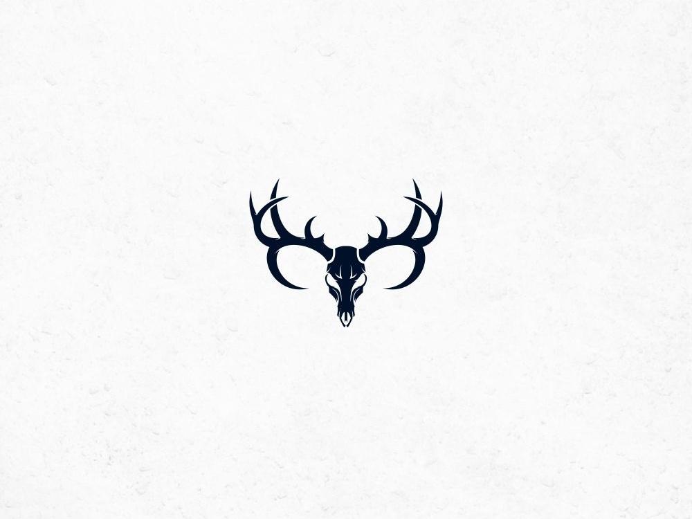 skull deer logo by RamaDani on Dribbble.