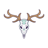 Deer Skull Free Vector Art.