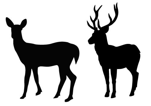 Free Deer Silhouette.