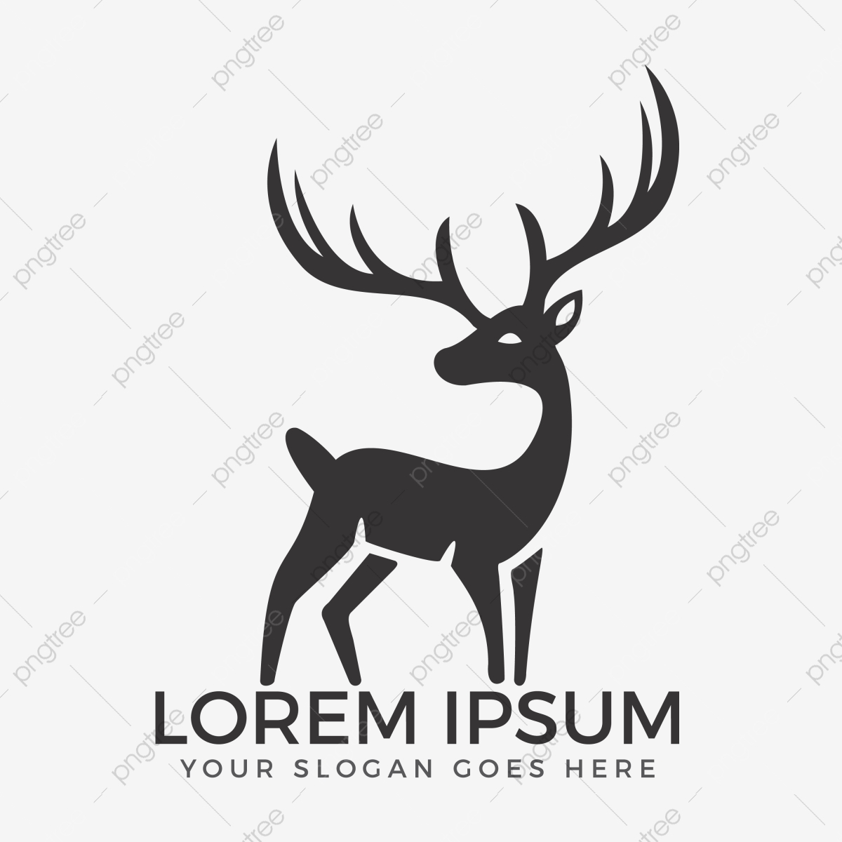 Deer Vector Logo Design, Abstract, Animal, Antler PNG and Vector.
