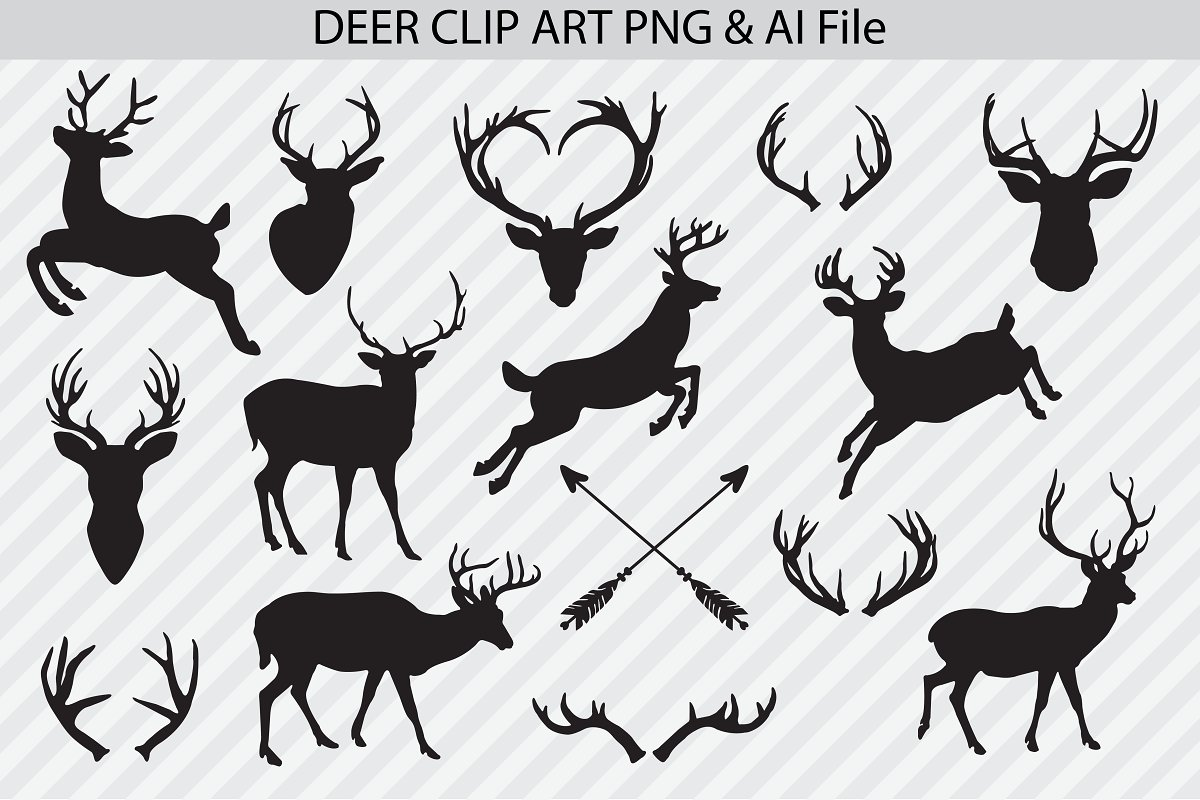 Deer Vectors & PNG Clip Art.