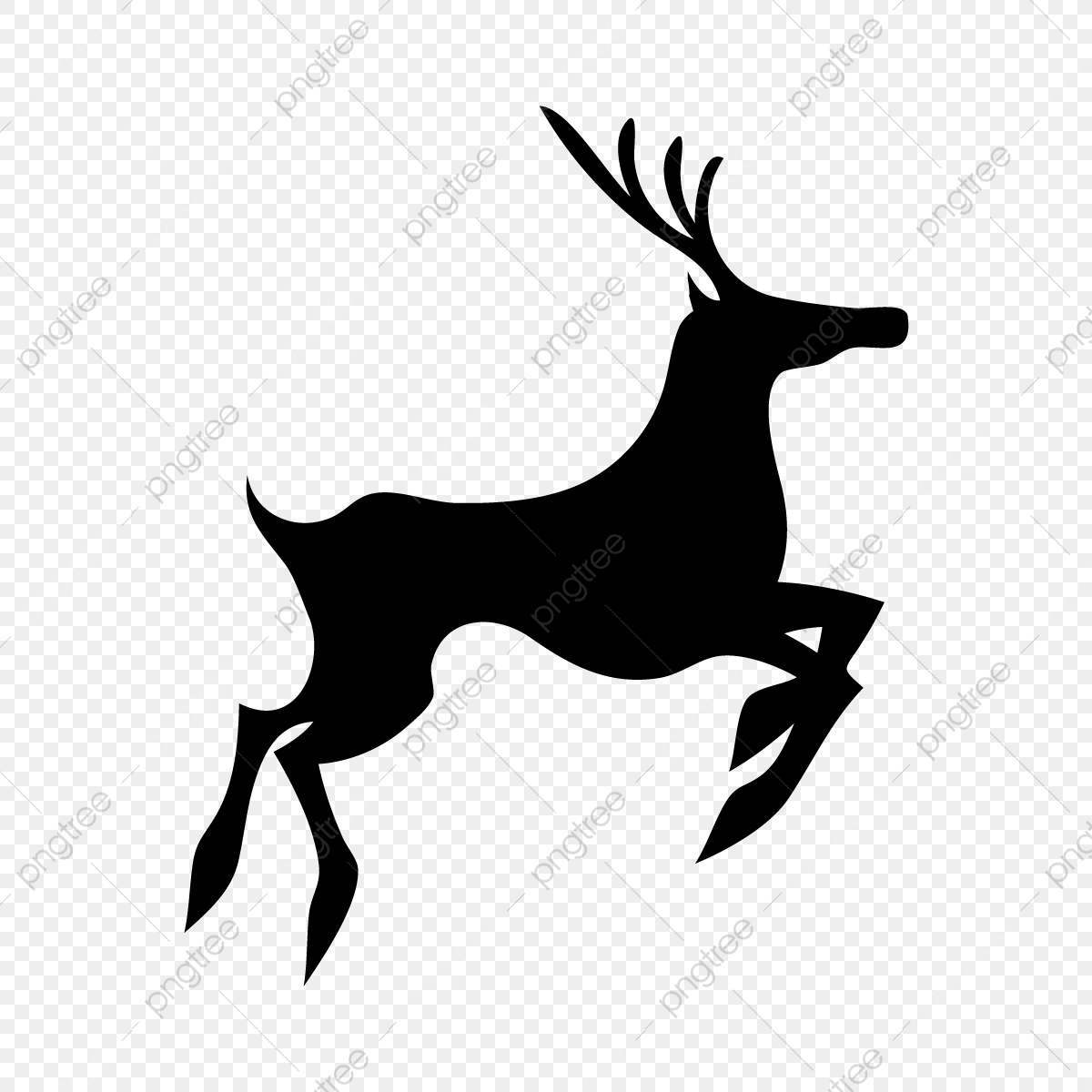 Deer Vector, Silhouette, Black, Deer PNG and Vector with Transparent.