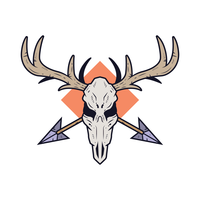 Deer Skull Free Vector Art.