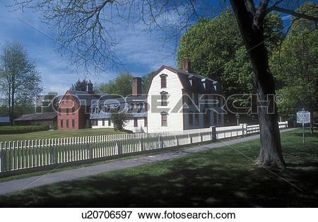 Picture of Massachusetts, Deerfield, Berkshires, Dwight House in.