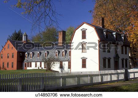 Stock Images of Deerfield, MA, Massachusetts, The Berkshires.