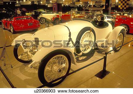 Stock Photo of antique car, South Deerfield, MA, Massachusetts.