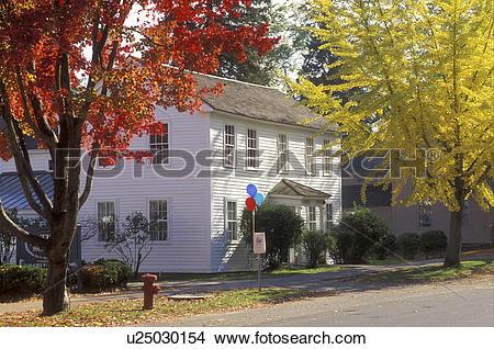 Stock Photo of Deerfield, MA, Massachusetts, The Berkshires, House.