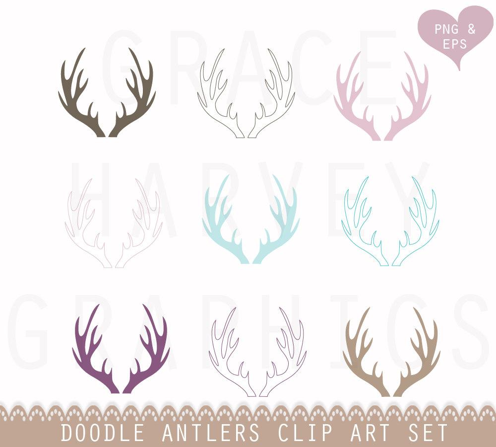 Deer Antler Clipart.