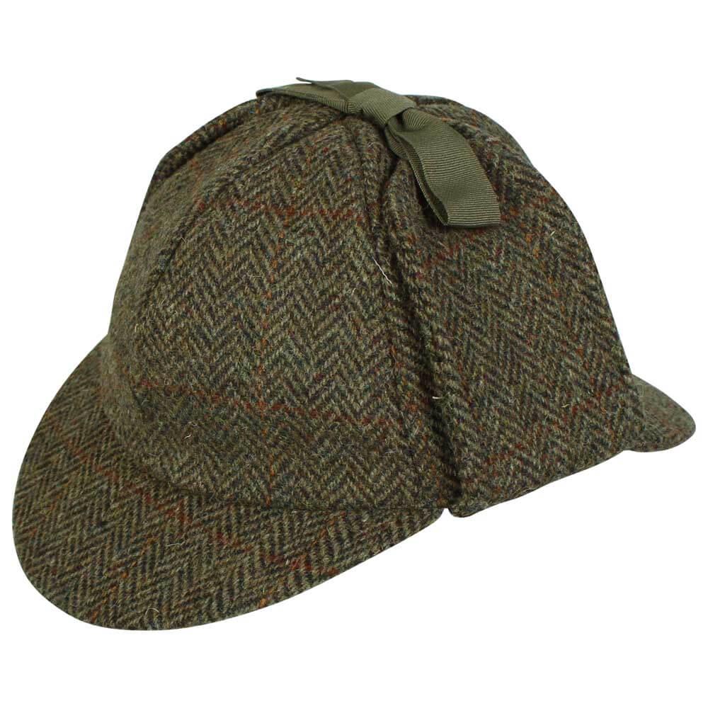 Harris Tweed Deerstalker/Sherlock Holmes Hat.