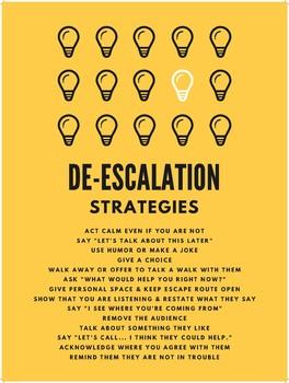 De Escalation Worksheets & Teaching Resources.