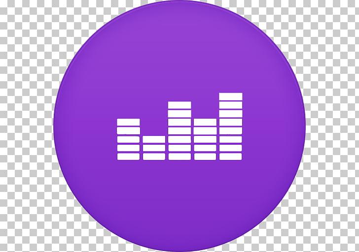Purple symbol sphere violet, Deezer 2, music wave logo PNG.
