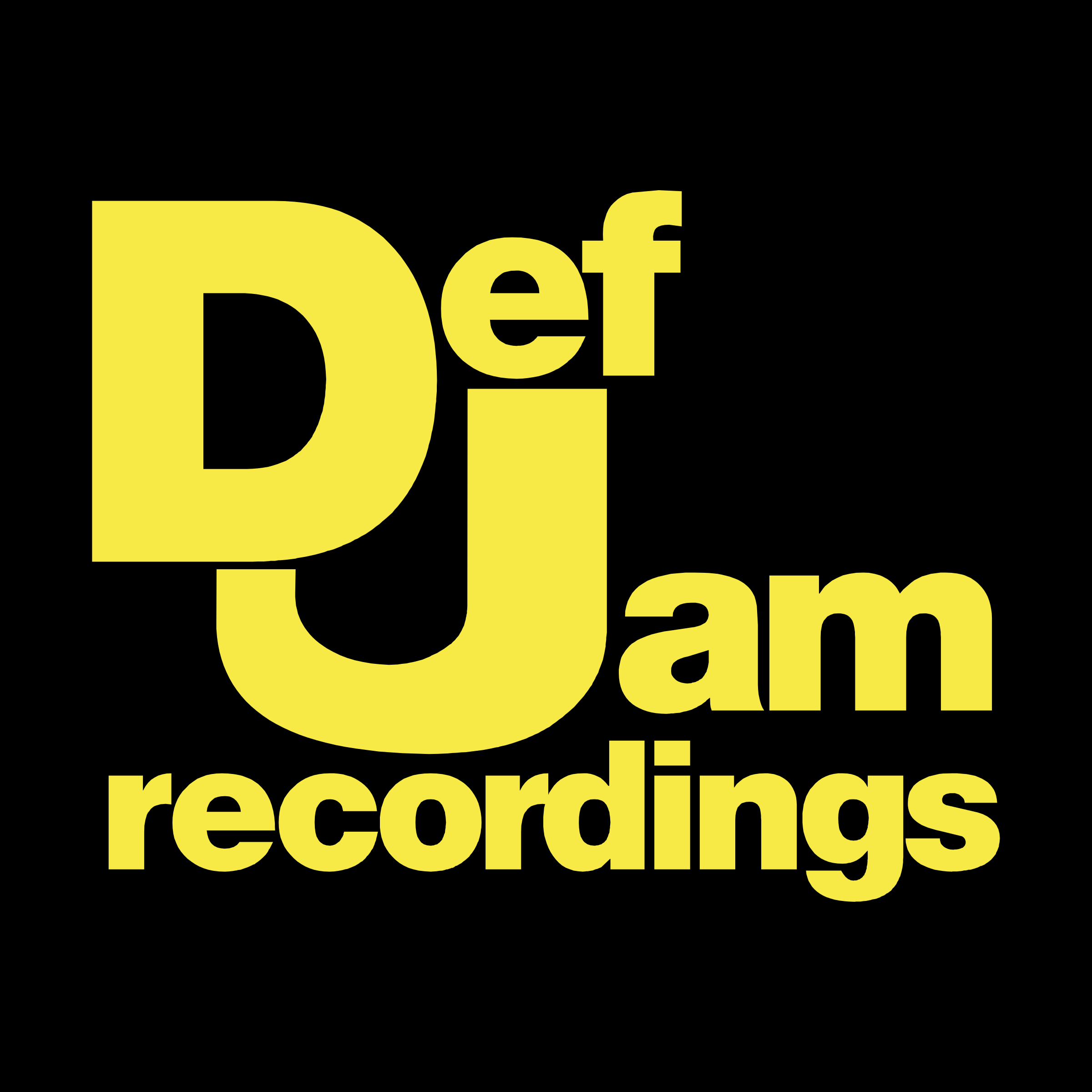 Def Jam Recordings Corporate logotype Logo PNG Transparent & SVG.