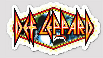 Def Leppard vinyl sticker for skateboard luggage laptop.