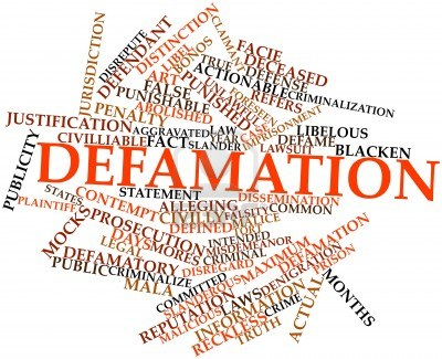 Defamation of Character Clip Art.