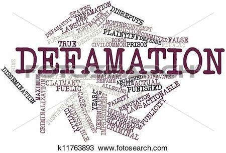 Drawing of Defamation k11763893.