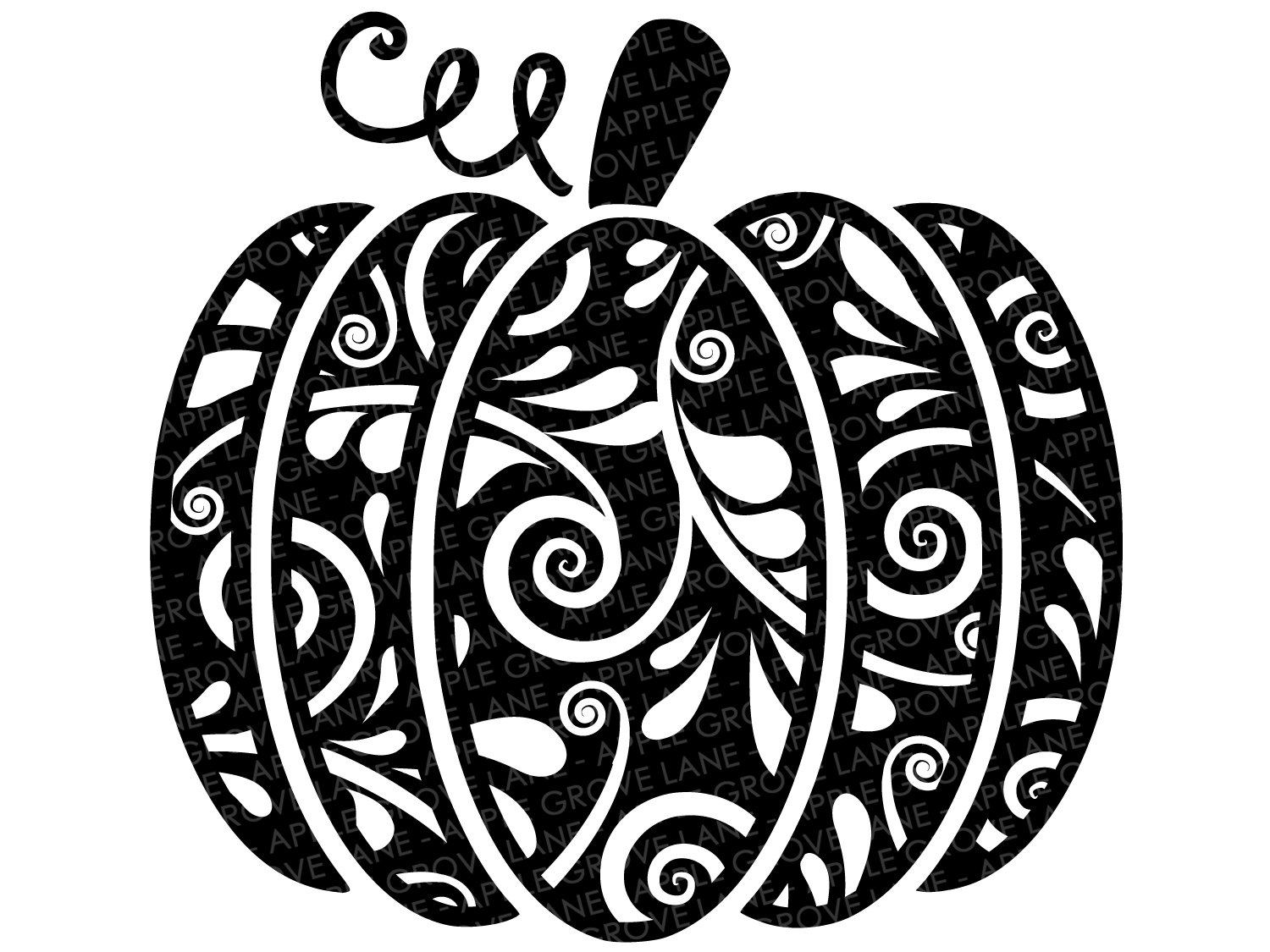Swirly Pumpkin Svg.