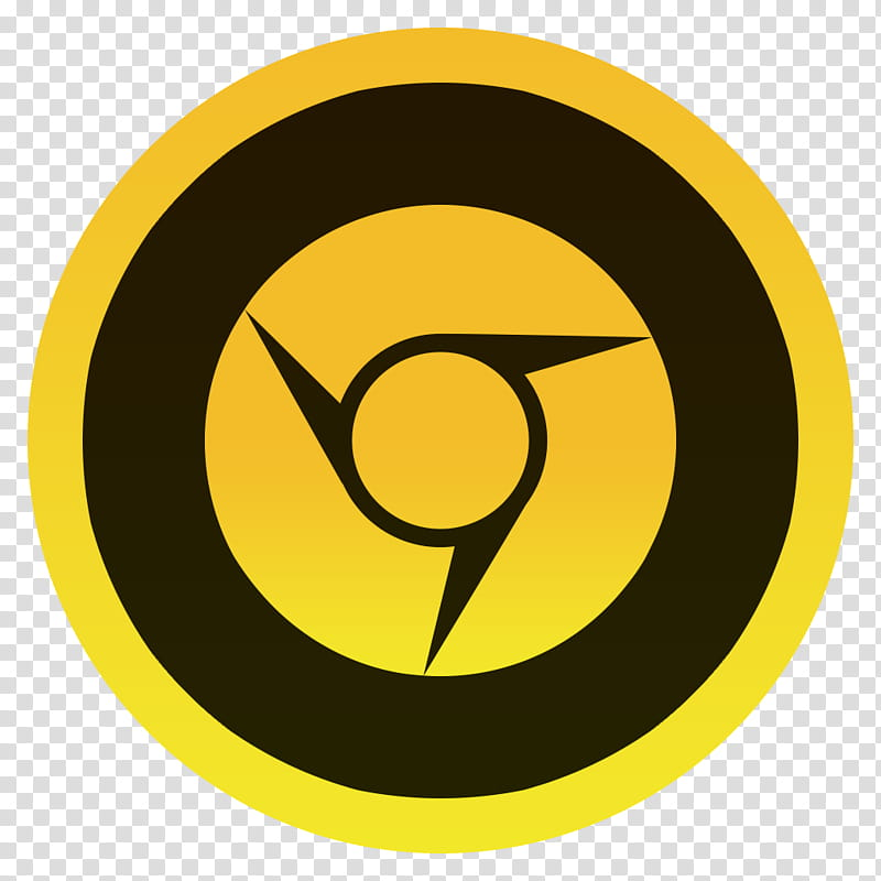 Minimal Icons, icon_x@x, round black and yellow logo.