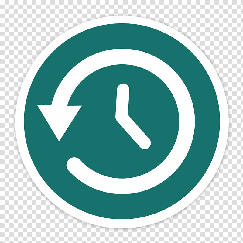 Flader default icons for Apple app Mac os X, Time Machine.