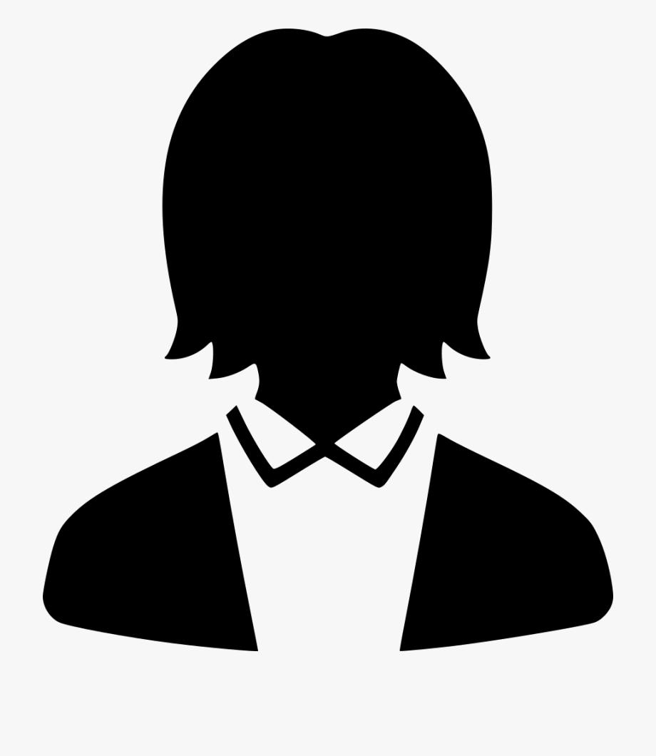 Work Profile User Default Female Suit Comments Clipart.