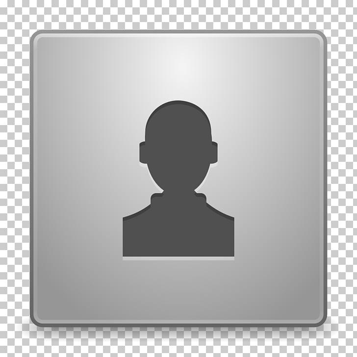 Silhouette icon, Avatar default, square silver person symbol.
