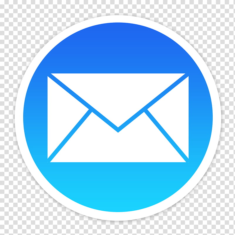 Flader default icons for Apple app Mac os X, Mail, white.