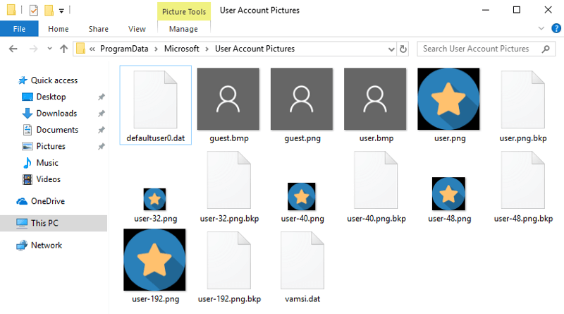 How to Change Default User Account Picture in Windows 10.