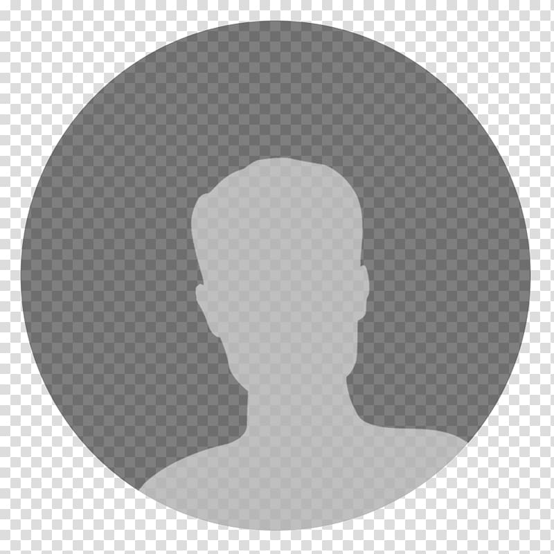 Social networking site default profile , forehead silhouette.