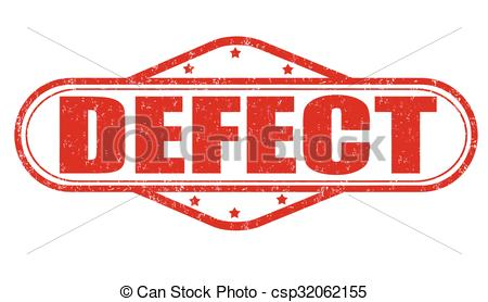 Clipart Vector of Defect grunge stamp.