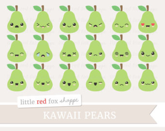 View Kawaii Clipart by LittleRedFoxShoppe on Etsy.