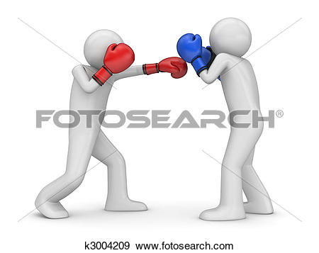 Stock Illustration of Atack and defence in boxing! k3004209.