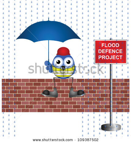 Flood Defence Stock Photos, Royalty.