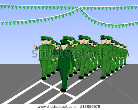 Soldiers Military Parade Stock Photos, Royalty.