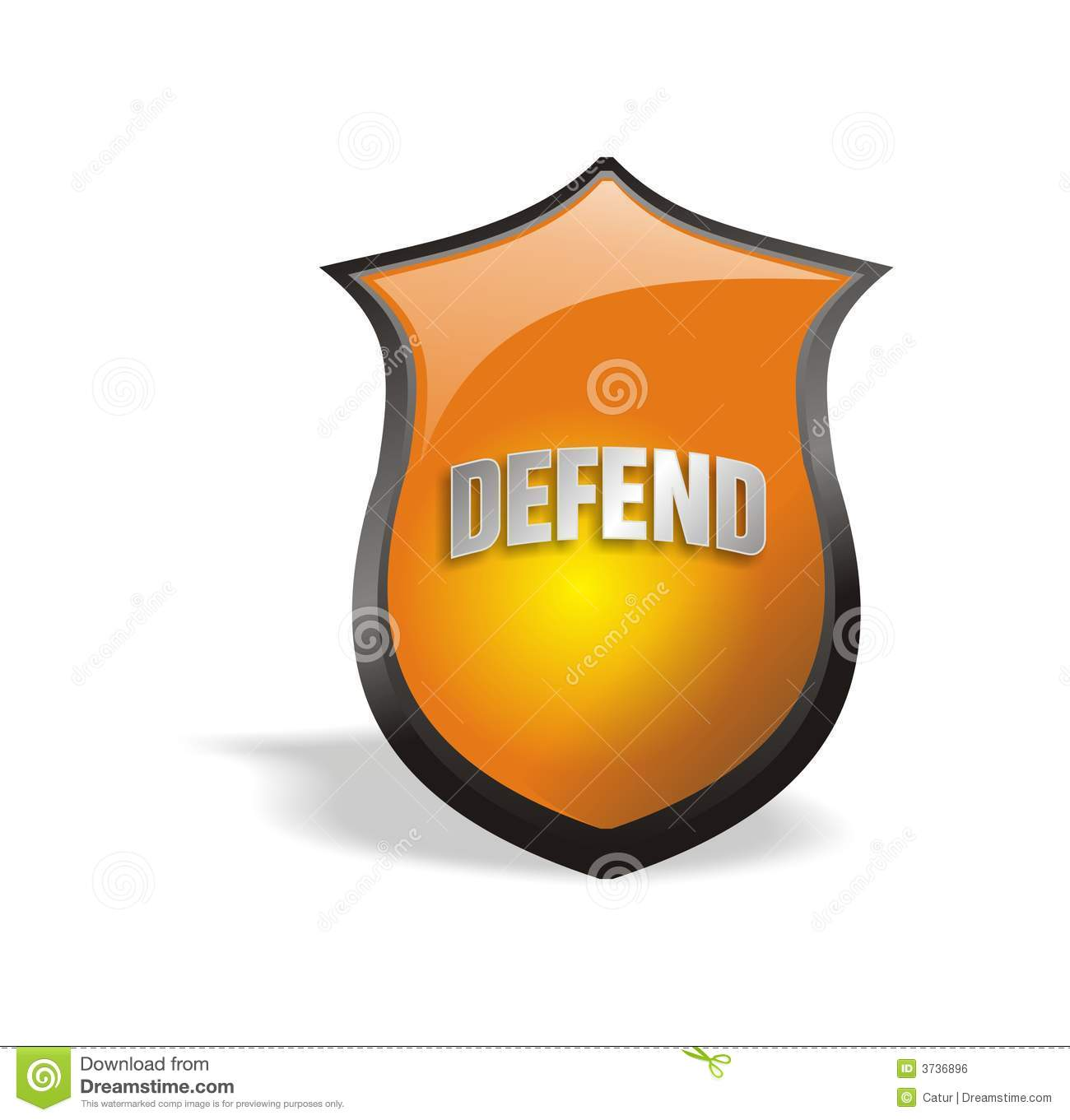 Cool 2.0 Shield Defend Royalty Free Stock Image.