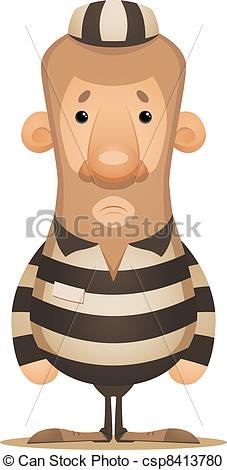 Vector Clipart of Prisoner.