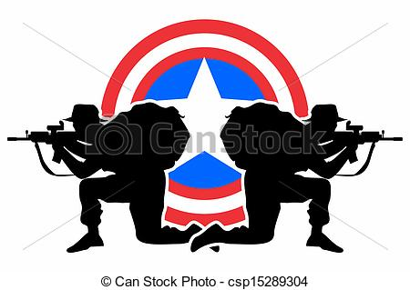 Vector Clipart of Defense shield.
