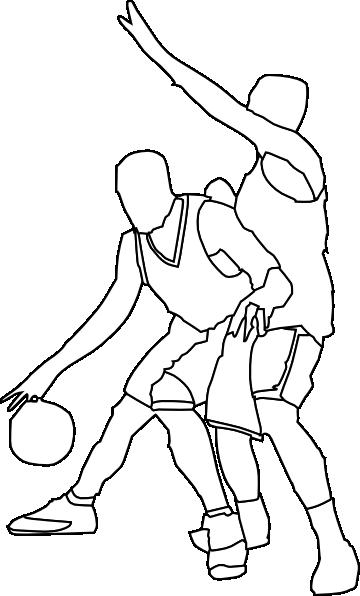 Basketball Offense And Defense clip art Free Vector / 4Vector.