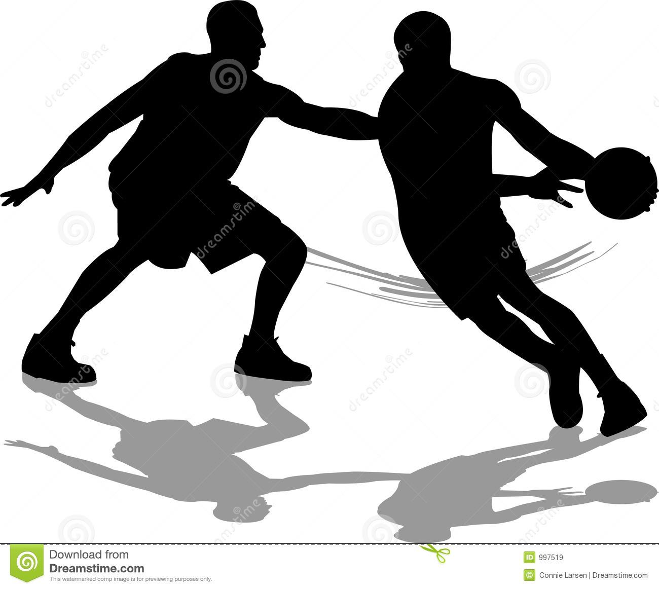 Basketball defense clipart.