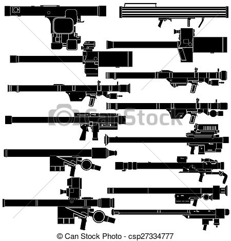 Stock Illustrations of Portable air defense systems.