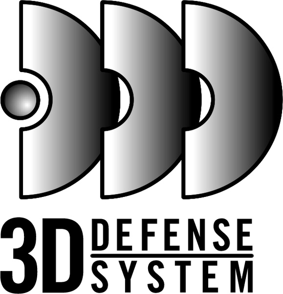 3d defense system Free vector in Encapsulated PostScript eps.